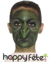 Faux nez vert de sorcière en latex, image 4