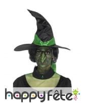 Faux nez vert de sorcière en latex