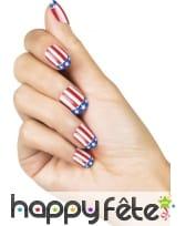 Faux ongles drapeau USA