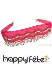 Foulard oriental rose et décoré
