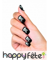 Faux ongles symbole pirate