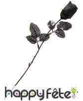 Fausse rose noire de 35cm