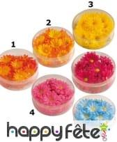 Fleurs synthétiques décoratives en tissu