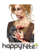 Faux sang rouge noir infecté, effet réaliste