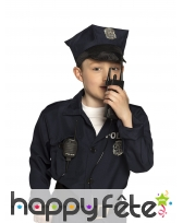 Faux talkie walkie de police pour enfant