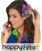 Fleur violette sur barrette à cheveux, image 1