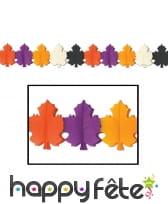 Guirlande automnale multicolore en papier de 3,6m