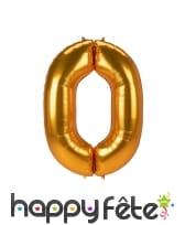 Grand ballon chiffre doré de 1,34m, image 2