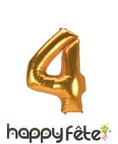 Grand ballon chiffre doré de 1,34m, image 6
