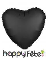 Grand ballon coeur en alu couleur unie de 43 cm, image 1