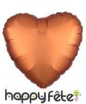 Grand ballon coeur en alu couleur unie de 43 cm, image 2