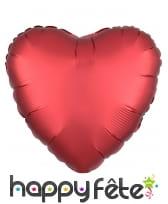 Grand ballon coeur en alu couleur unie de 43 cm, image 3