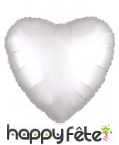 Grand ballon coeur en alu couleur unie de 43 cm, image 5