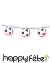 Guirlande Ballons de foot bleu blanc rouge 320cm