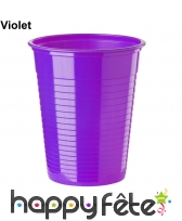 Gobelets colorés en plastique de 20cl, image 8