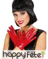Gants courts glamour couleurs métallisées femme, image 1