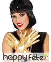 Gants courts glamour couleurs métallisées femme, image 3