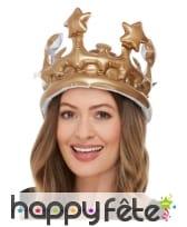 Grande couronne gonflable dorée
