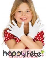 Gants courts pour petite fille noirs ou blancs, image 1