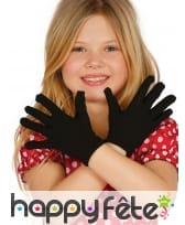 Gants courts pour petite fille noirs ou blancs, image 2