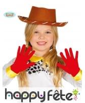 Gants courts rouge vif pour enfant