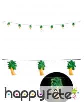 Guirlande de 10 palmiers lumineux 2,5m, image 1