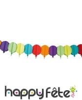 Guirlande de ballons multicolores en papier