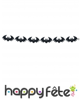 Guirlande de Chauve-souris noires en feutrine