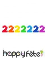 Guirlande de chiffres colorés de 6 m, image 2