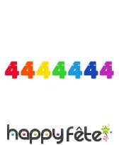 Guirlande de chiffres colorés de 6 m, image 4