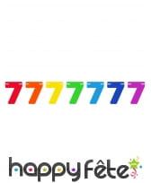 Guirlande de chiffres colorés de 6 m, image 7