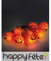 Guirlande de citrouilles LED, 1,6m, image 1