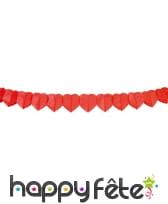 Guirlande de coeurs rouge, 4 m
