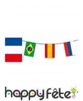 Guirlande drapeaux coupe du monde de foot, 13m