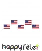 Guirlande de drapeaux Américain 5m