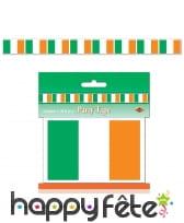 Guirlande de drapeaux Irlandais, 6m