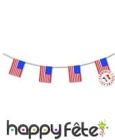 Guirlande de drapeaux USA 4m