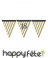 Guirlande de fanions d'anniversaire blanc doré, image 3