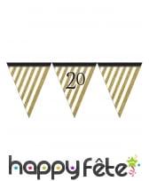 Guirlande de fanions d'anniversaire blanc doré, image 4