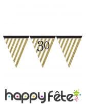 Guirlande de fanions d'anniversaire blanc doré, image 5