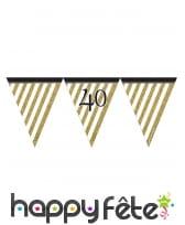 Guirlande de fanions d'anniversaire blanc doré, image 6
