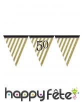 Guirlande de fanions d'anniversaire blanc doré, image 7
