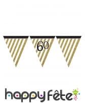 Guirlande de fanions d'anniversaire blanc doré, image 8