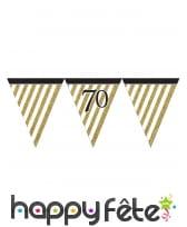 Guirlande de fanions d'anniversaire blanc doré, image 9
