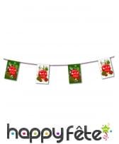 Guirlande de fanions Joyeux Noel, 450cm