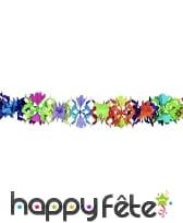 Guirlande de fleurs en papier multicolore, 6m
