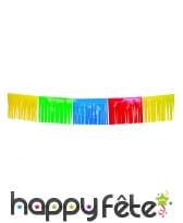 Guirlande de franges multicolores, 10 mètres