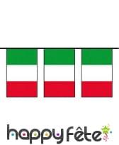 Guirlande drapeau Italien en plastique
