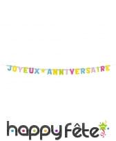 Guirlande de lettres joyeux anniversaire, 2m