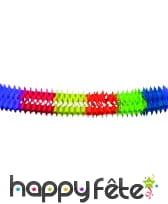 Guirlande de papier multicolore, 6 m